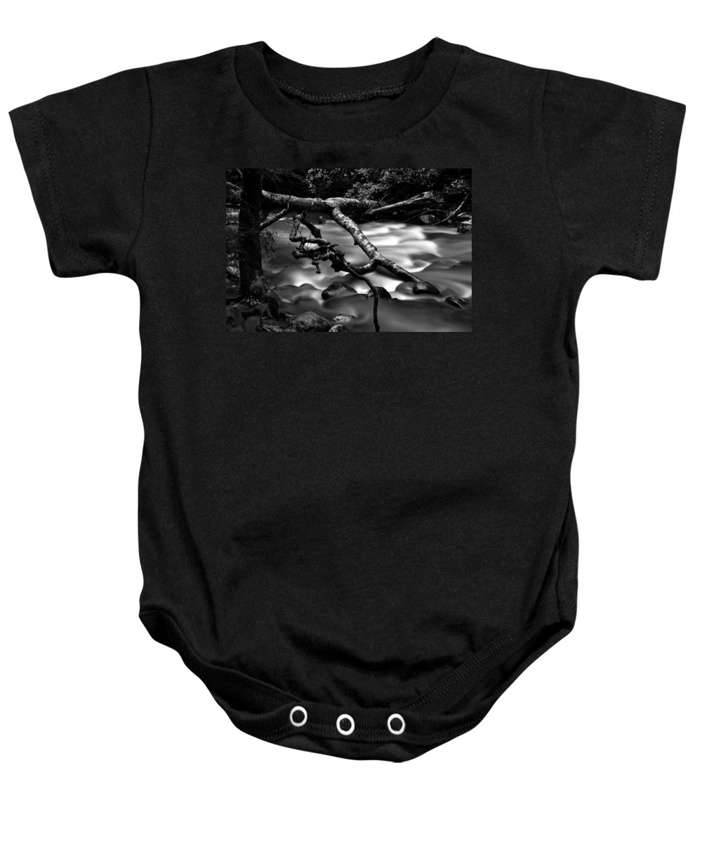 River Baby Onesie featuring the photograph Cold Mountain Stream Hdr Work #1 by David Lee Thompson