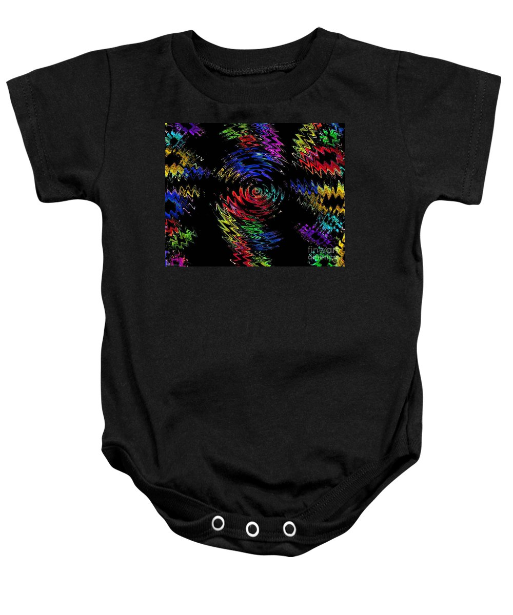 Spin Baby Onesie featuring the digital art Color Spin by Lizi Beard-Ward