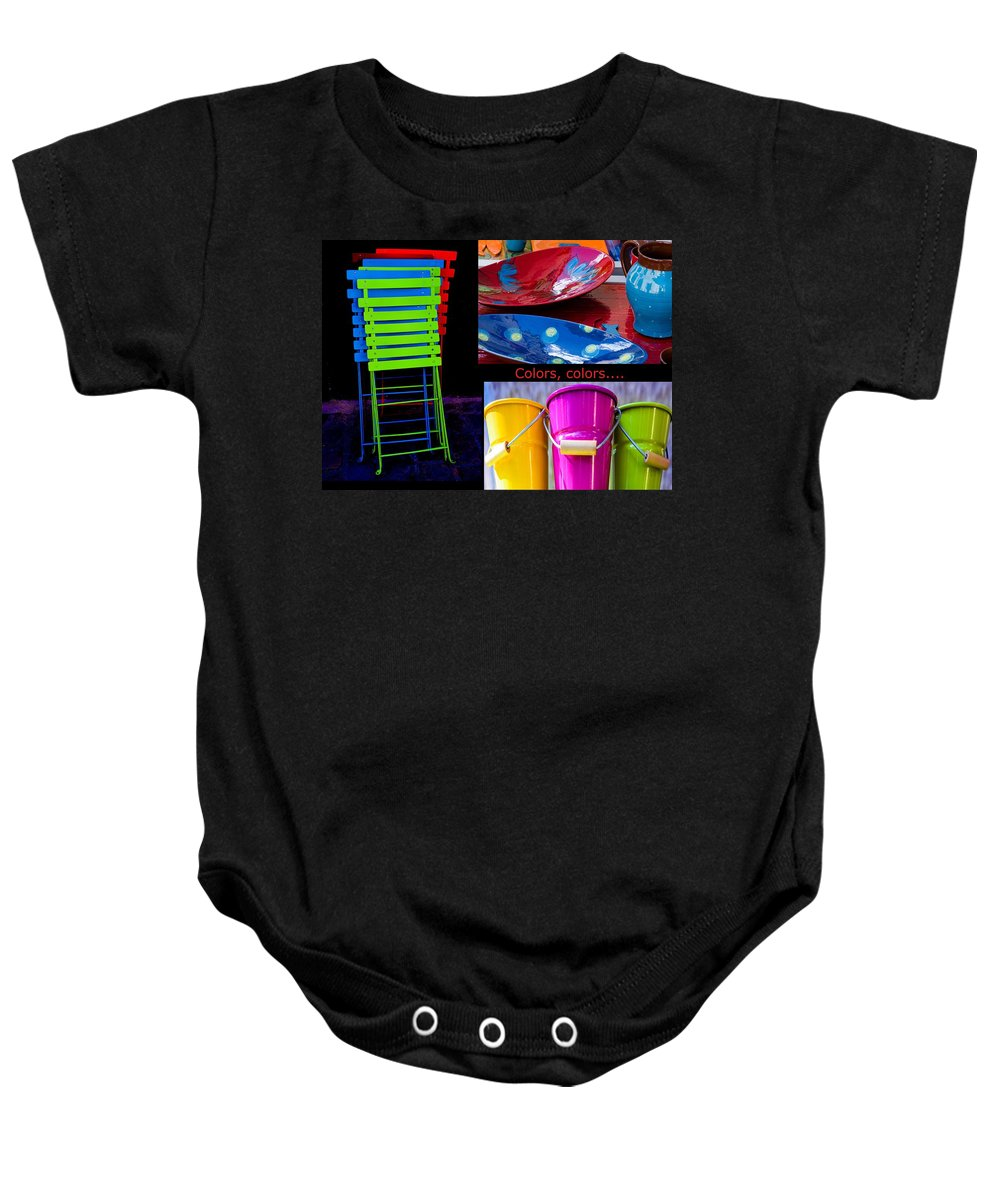 Colors Baby Onesie featuring the photograph Color Your Life 1 by Dany Lison