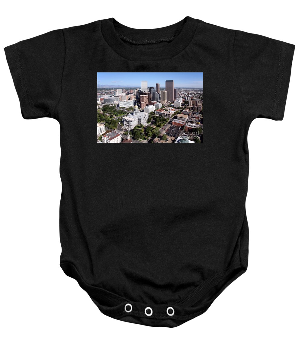 Colorado Baby Onesie featuring the photograph Colorado State Capitol Building Denver by Bill Cobb
