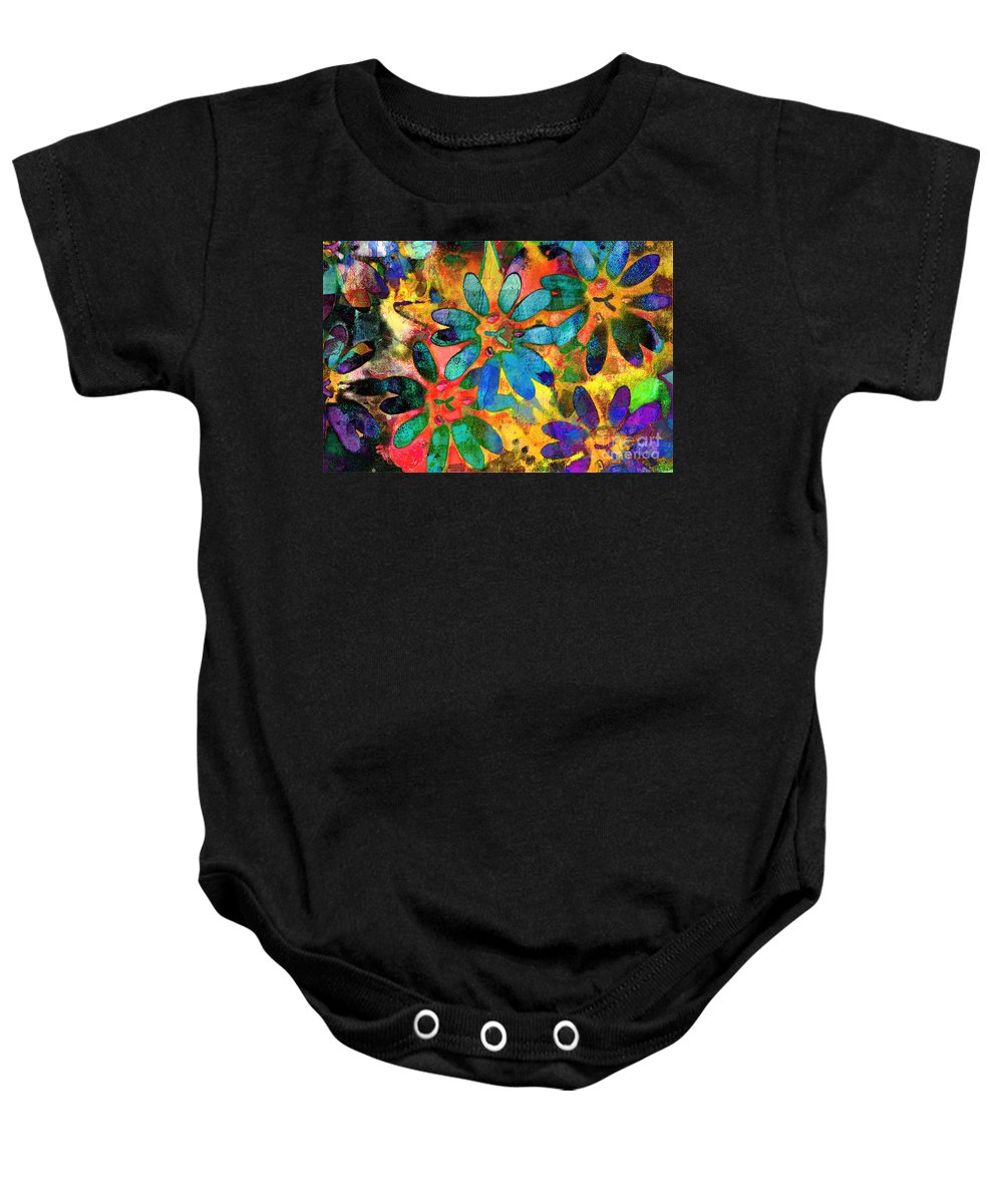 Nature Baby Onesie featuring the photograph Colorful Floral Abstract IIi by Debbie Portwood