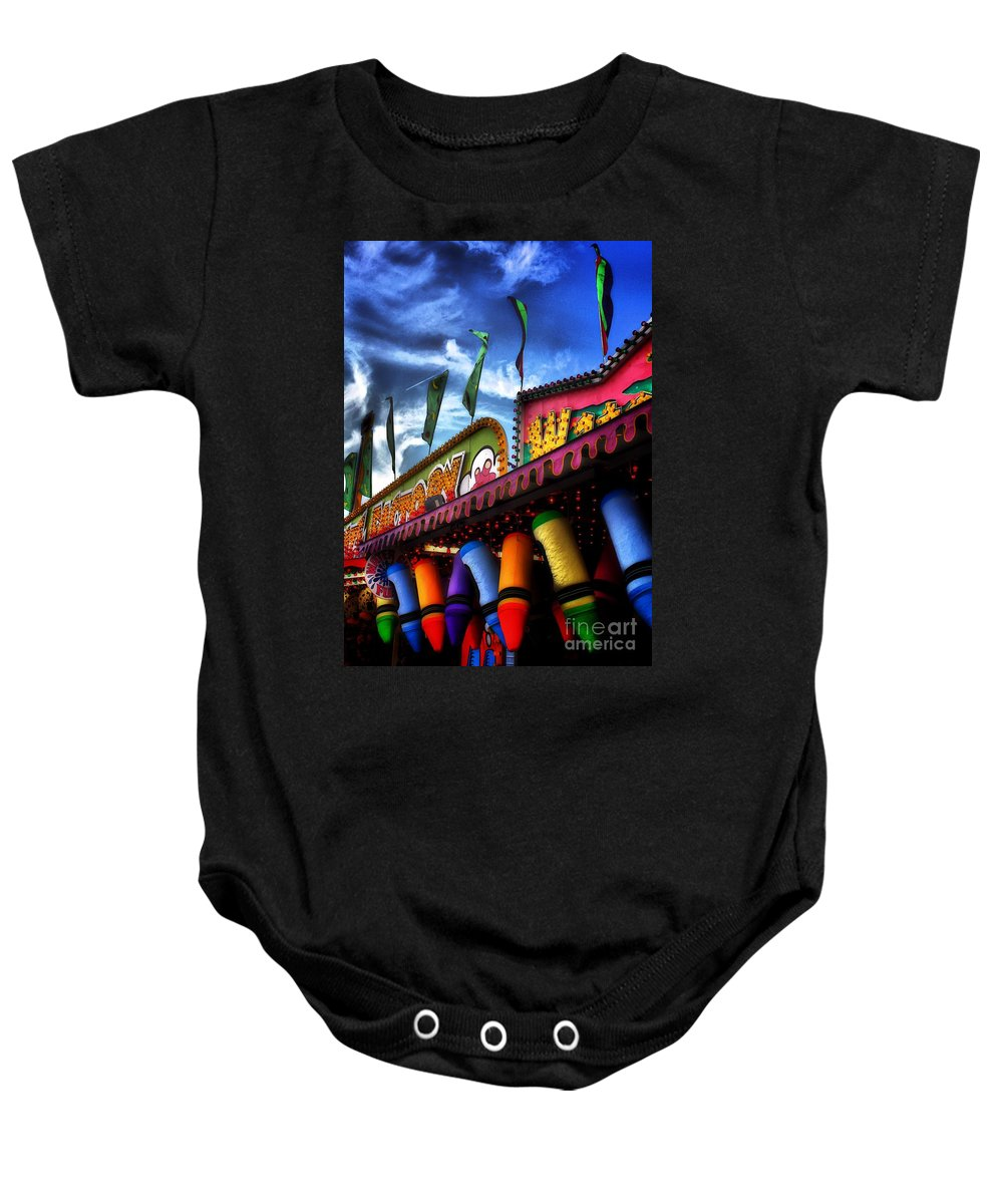 Architectural Art Baby Onesie featuring the photograph Colors Of The Midway 2 by Robert McCubbin
