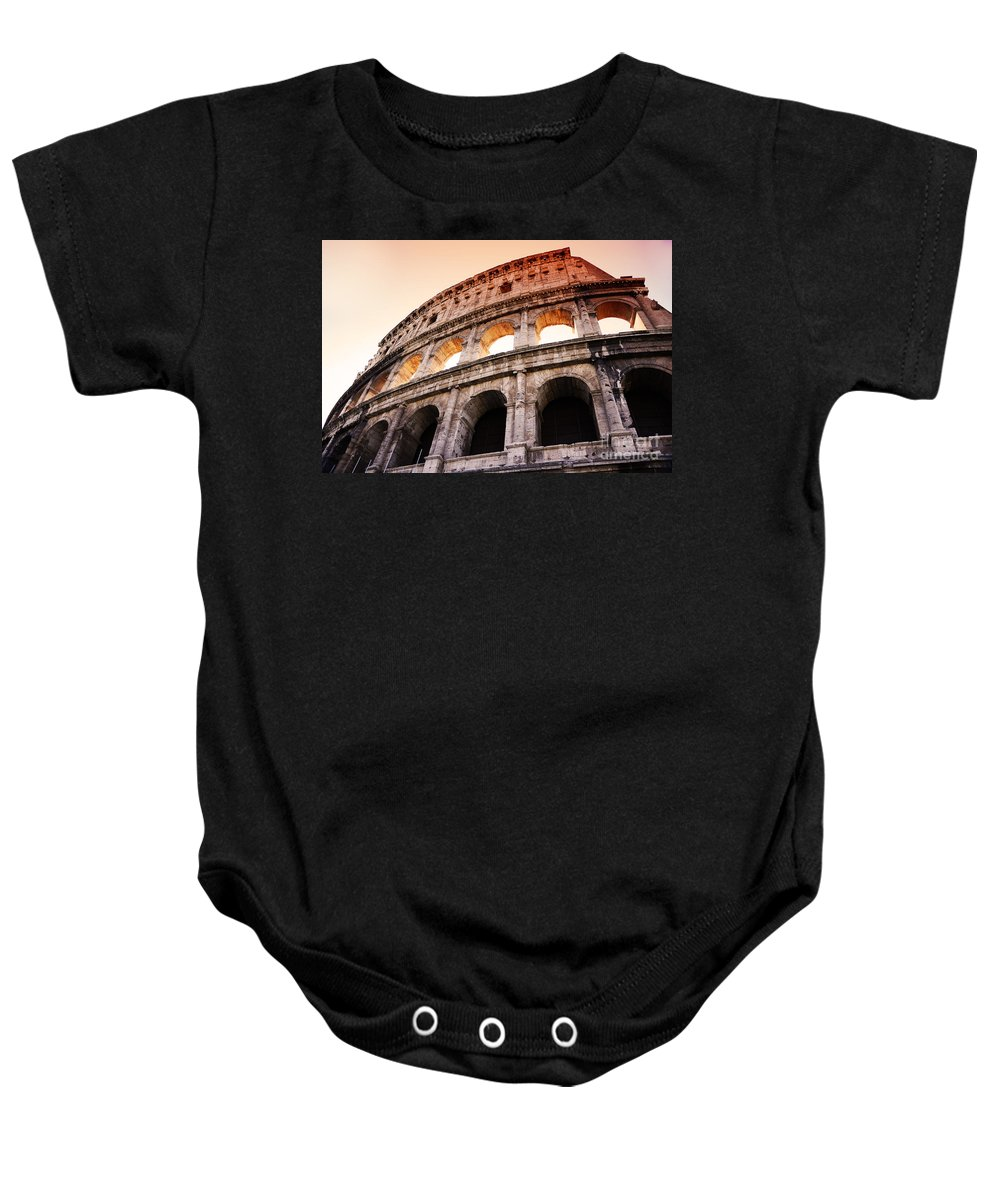 Rome Baby Onesie featuring the photograph Colosseum Italy by Phill Petrovic