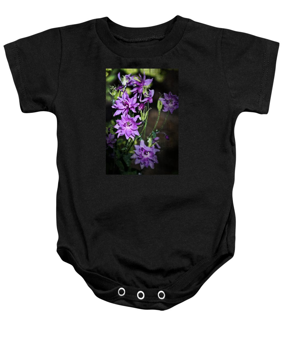 Flower Baby Onesie featuring the photograph Columbine by Marcia Colelli