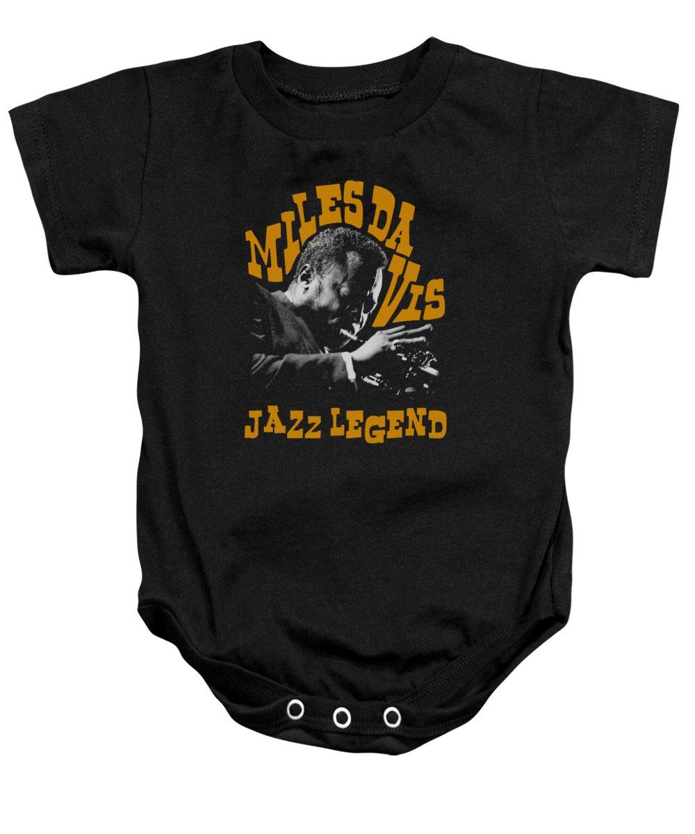 Miles Davis Baby Onesie featuring the digital art Concord Music - Jazz Legend by Brand A