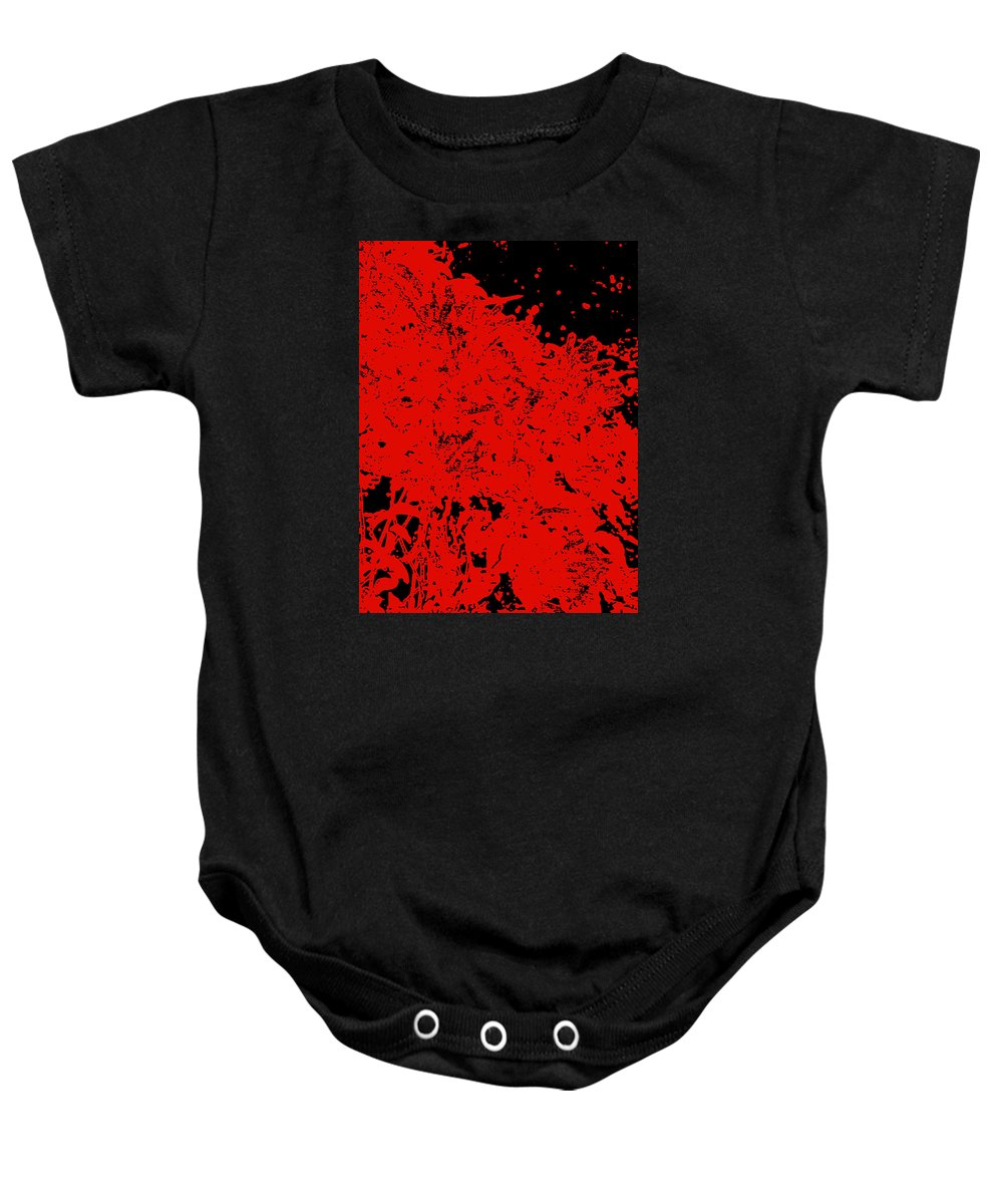 Chaos Baby Onesie featuring the digital art Chaos by James Temple