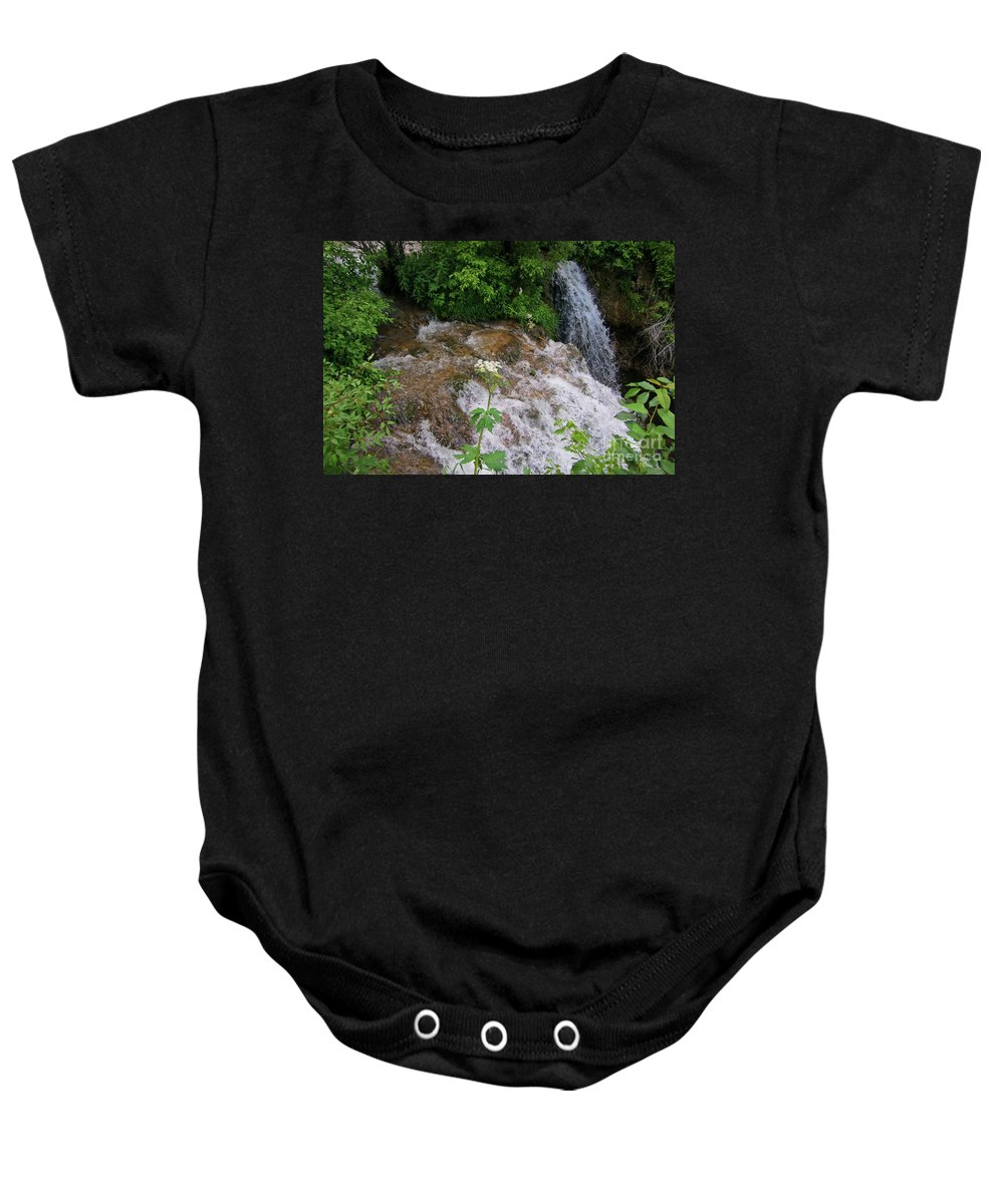 Water Fall Prints Baby Onesie featuring the photograph Cool Clear Water by John Malone