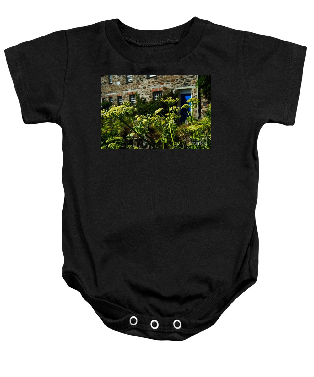 Cow Baby Onesie featuring the photograph Cornish Cow Parsley by Rob Hawkins