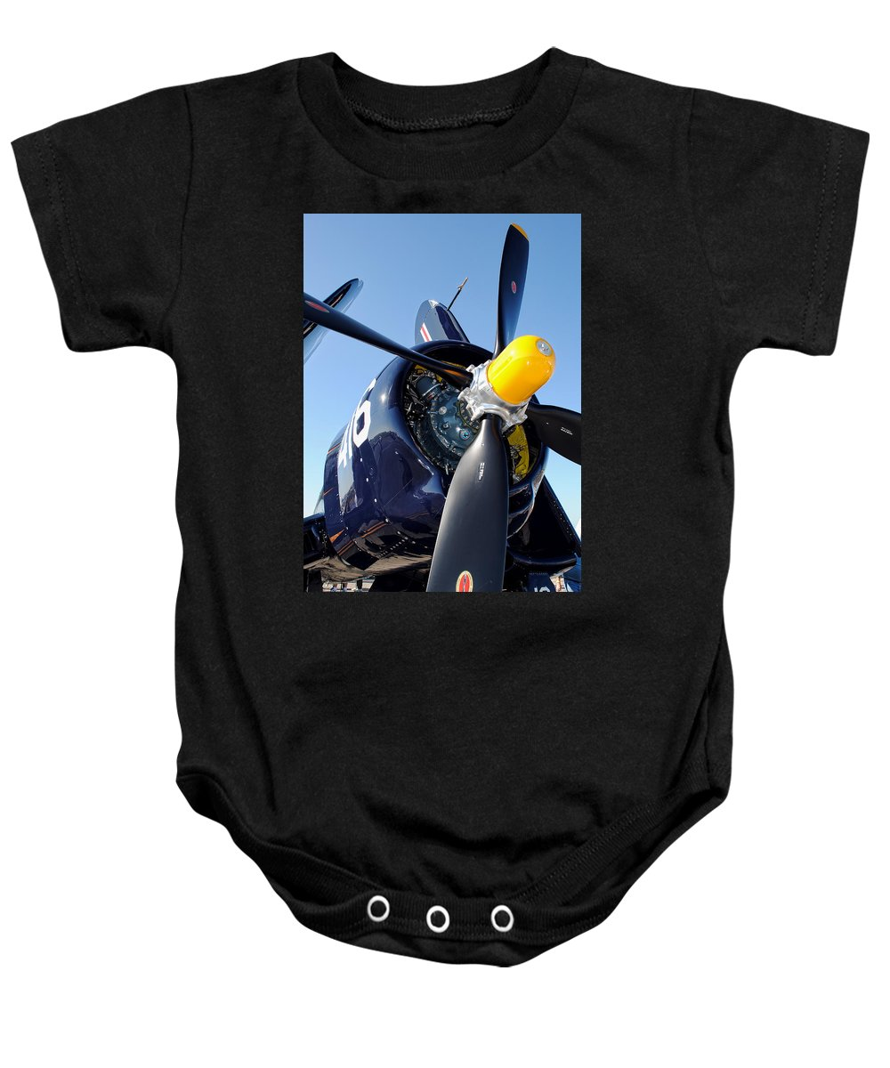F4u Baby Onesie featuring the photograph Corsair by David Hart