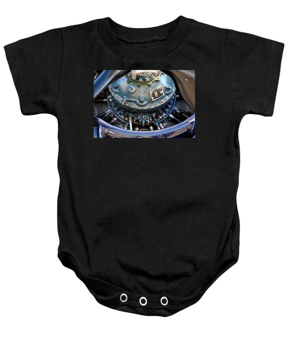 F4u Baby Onesie featuring the photograph Corsair R2800 Radial by David Hart
