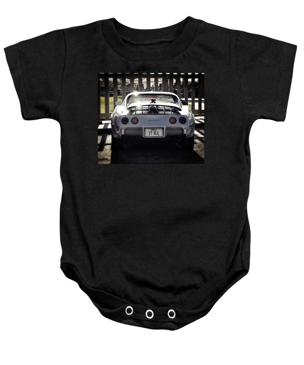 Corvette Baby Onesie featuring the photograph Corvette by Savannah Gibbs