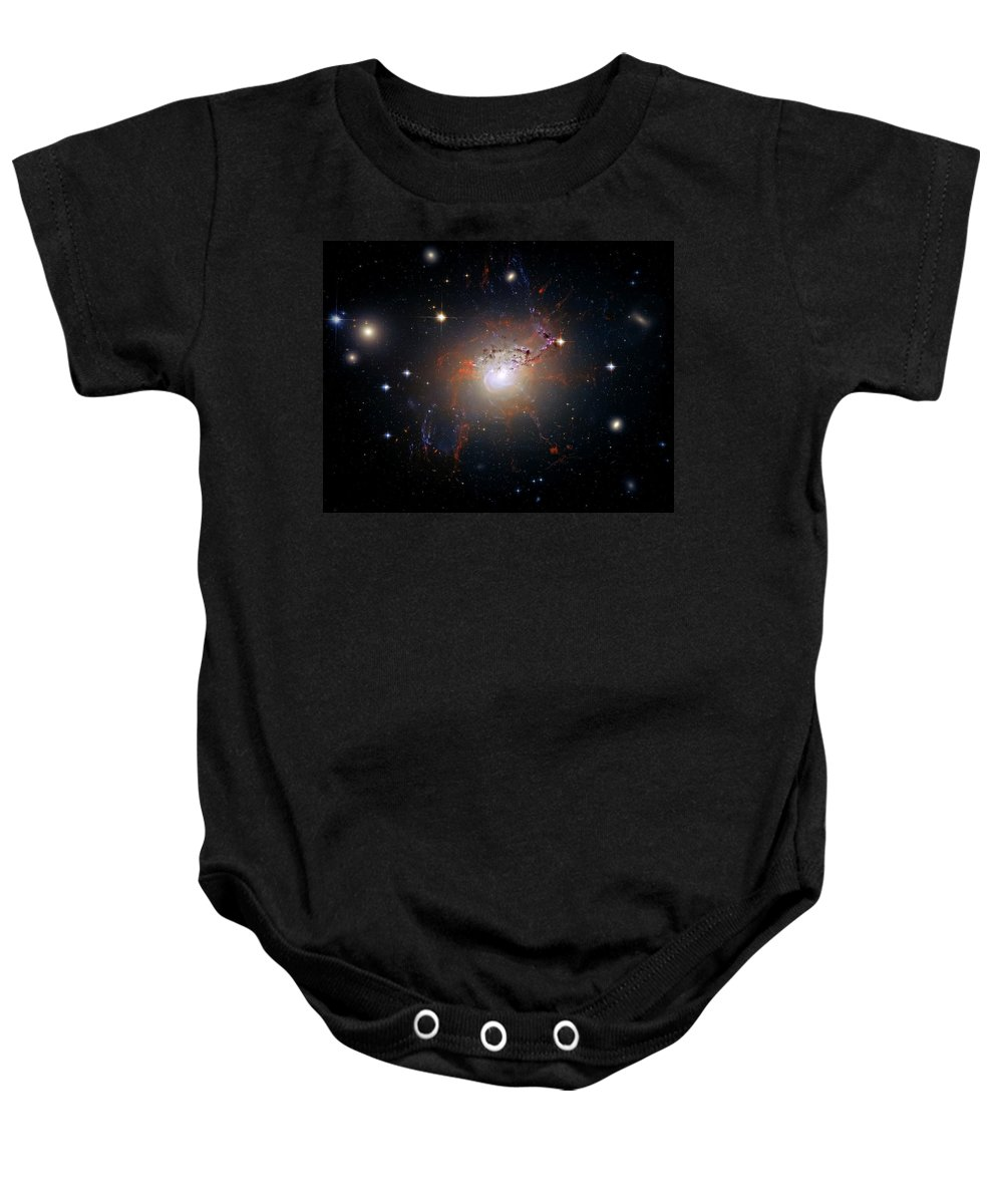 Universe Baby Onesie featuring the photograph Cosmic Fireworks by Jennifer Rondinelli Reilly - Fine Art Photography