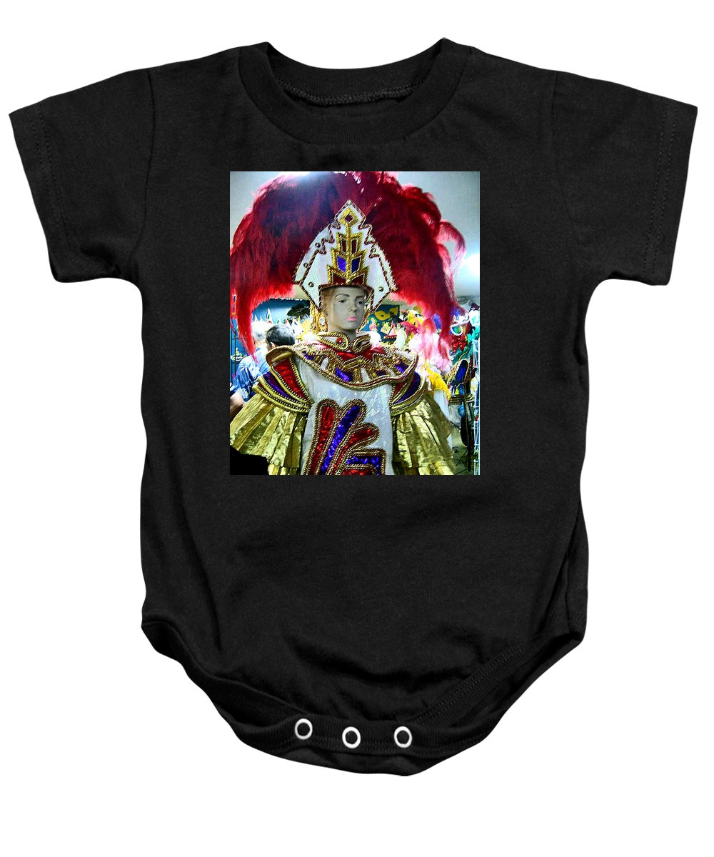 Travel Baby Onesie featuring the photograph Costumed Man Tenerife by Jay Milo