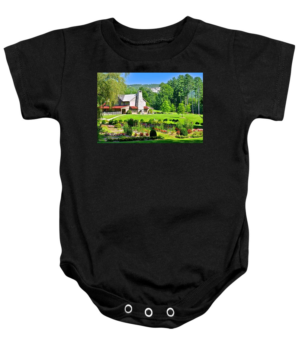 Country Baby Onesie featuring the photograph Country Inn by Frozen in Time Fine Art Photography