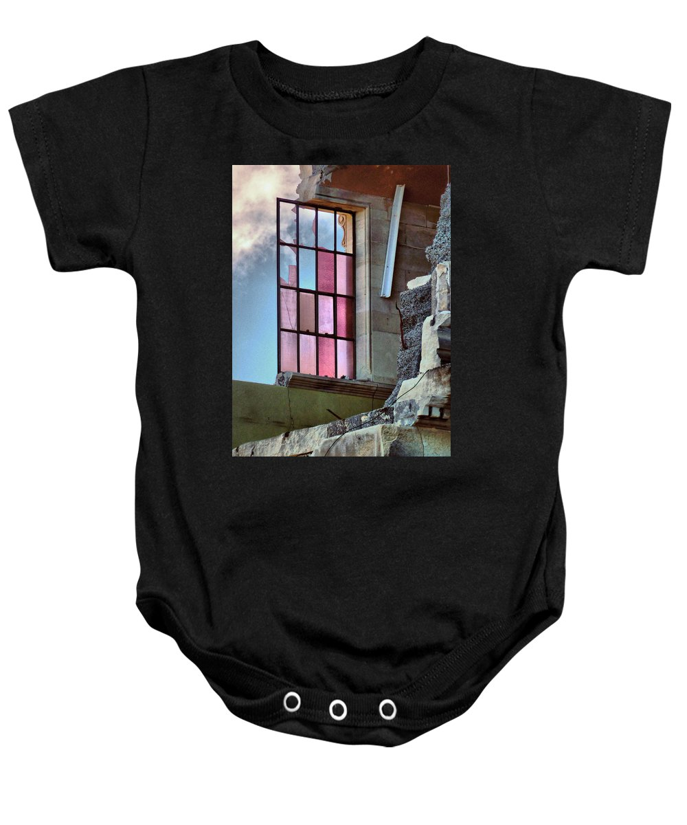 Pink Baby Onesie featuring the photograph Cracked Pink by Steve Taylor