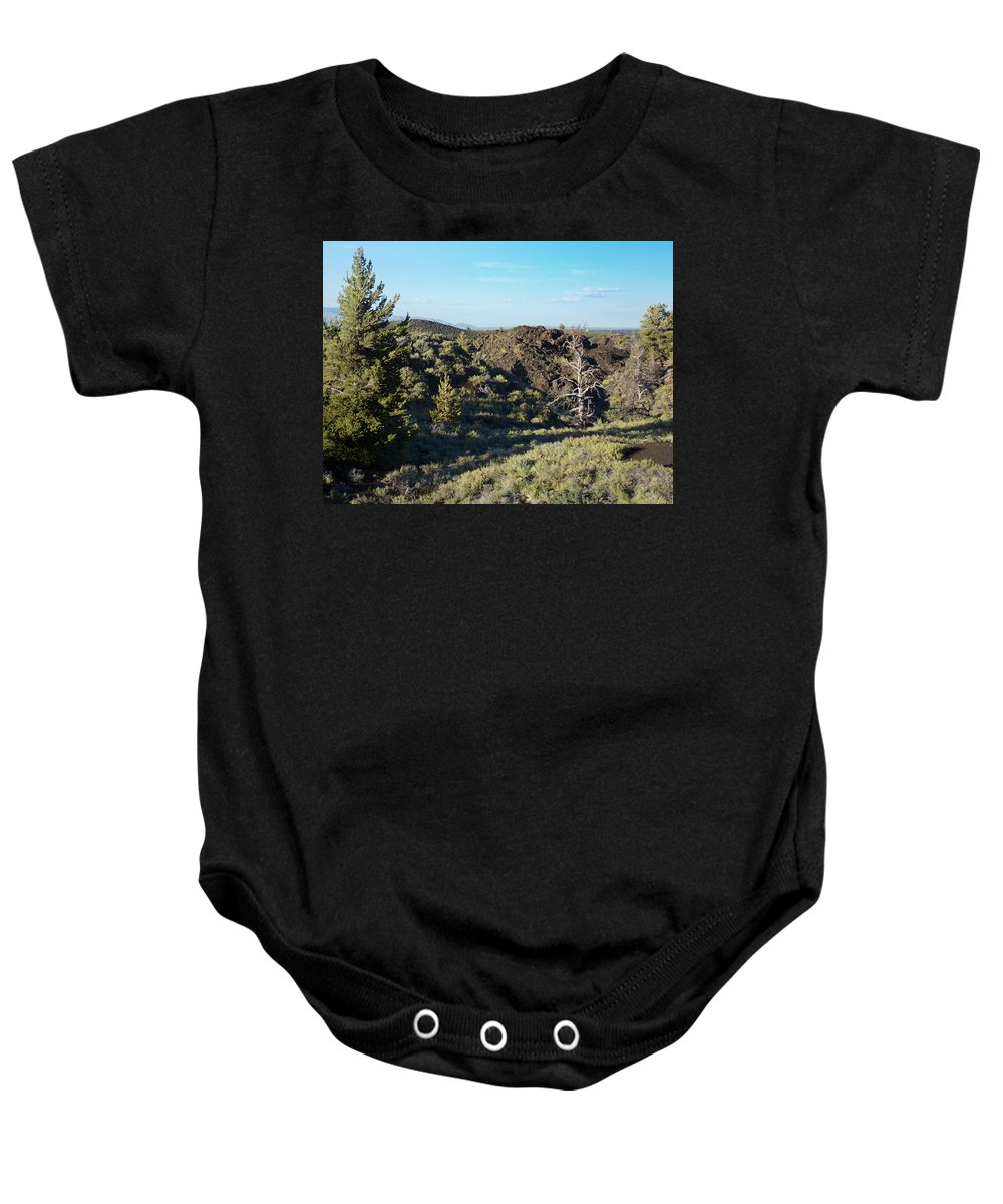 Craters Baby Onesie featuring the photograph Craters Of The Moon2 by Susan Kinney