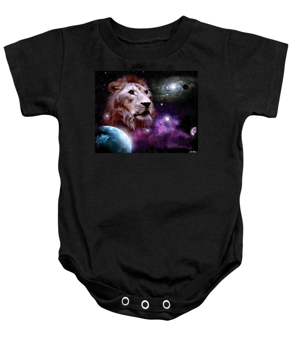 Creator Of All. Baby Onesie featuring the digital art Creator by Bill Stephens