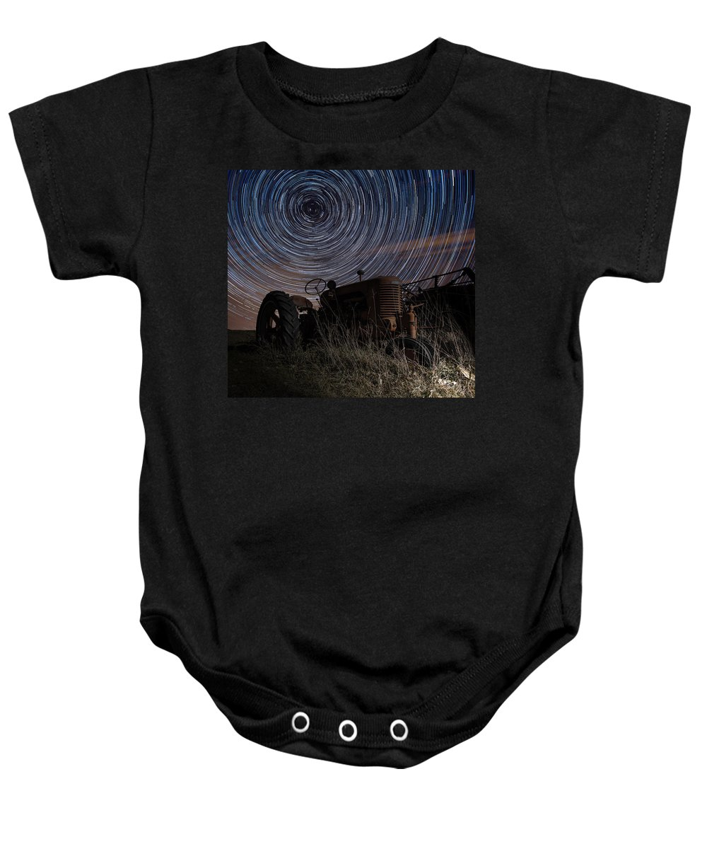 Tractor Baby Onesie featuring the photograph Crop Circles by Aaron J Groen
