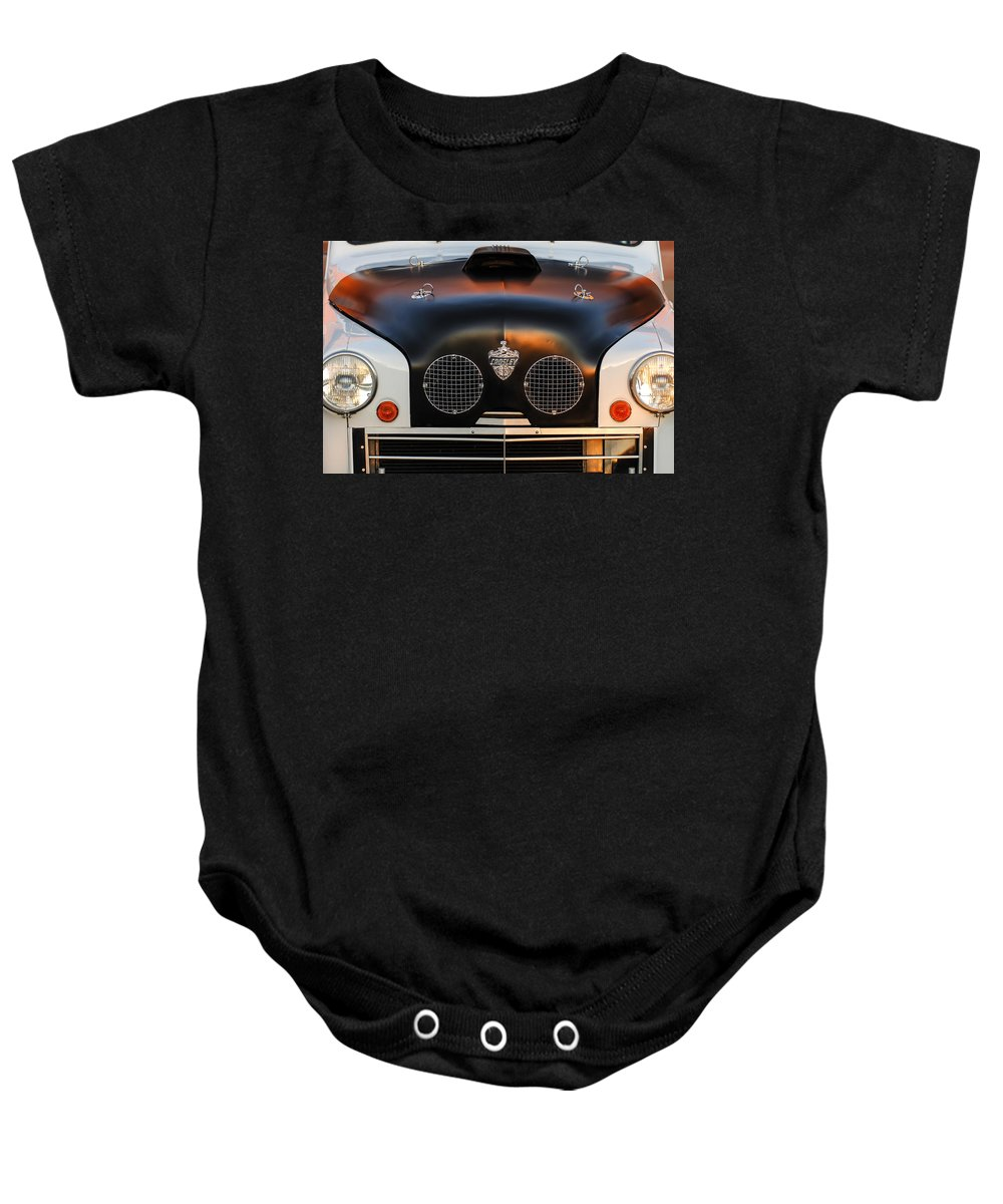 Crosley Grille Baby Onesie featuring the photograph Crosley Front End by Jill Reger