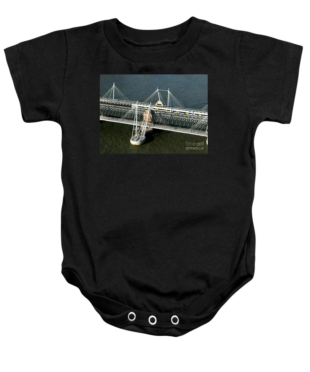 London Baby Onesie featuring the photograph Crossing The Thames by Ann Horn