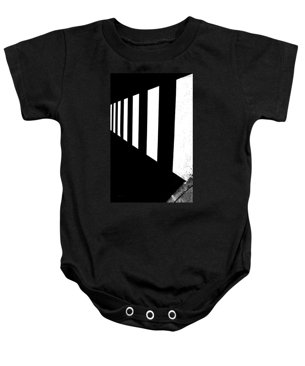 Abstract Baby Onesie featuring the photograph Crosswalk by Bob Orsillo