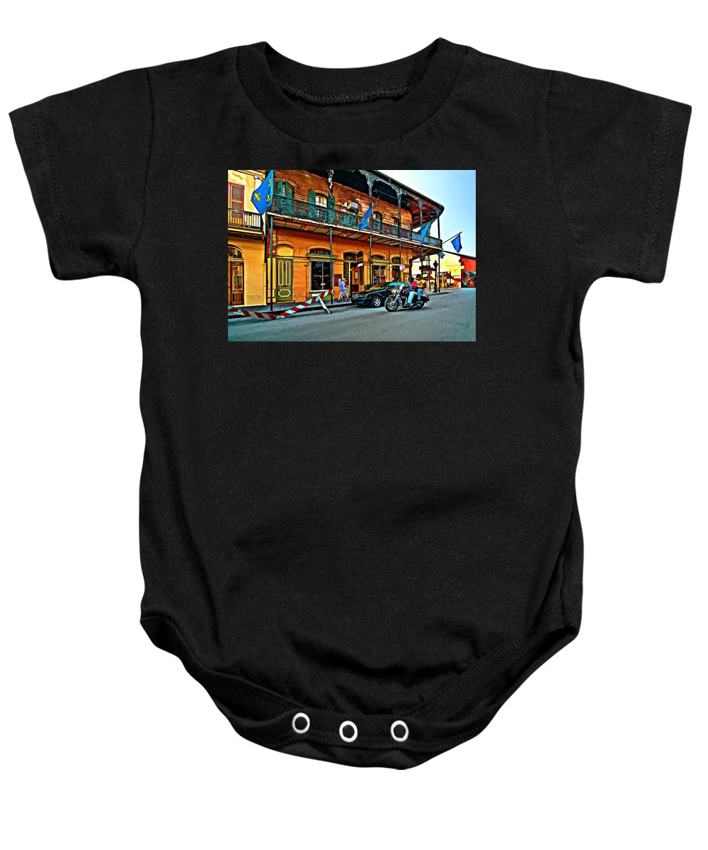 New Orleans Baby Onesie featuring the photograph Cruising The Quarter by Steve Harrington