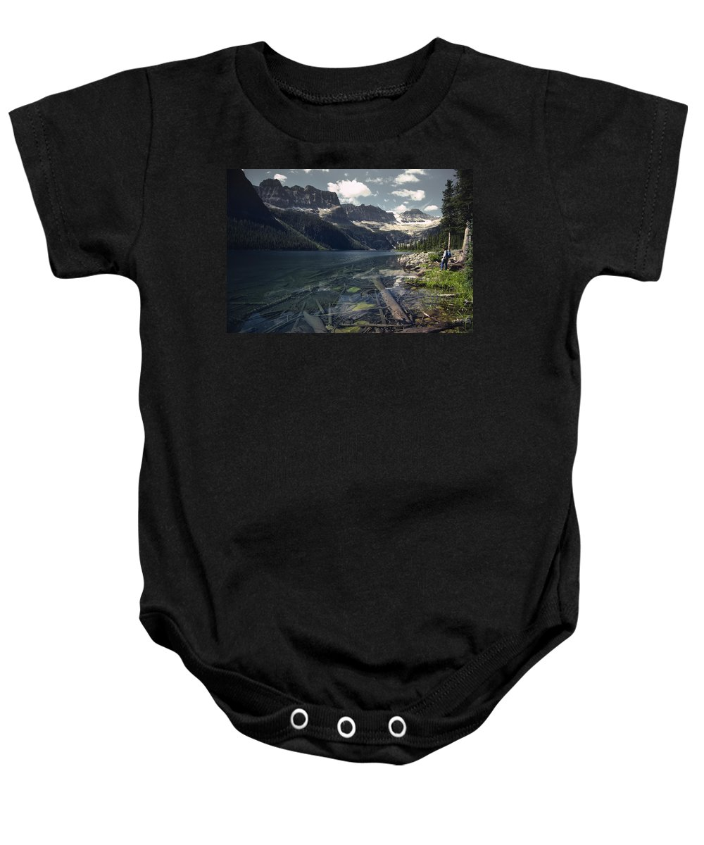 Agriculture Baby Onesie featuring the photograph Crystal Clear Mountain Lake by Roderick Bley