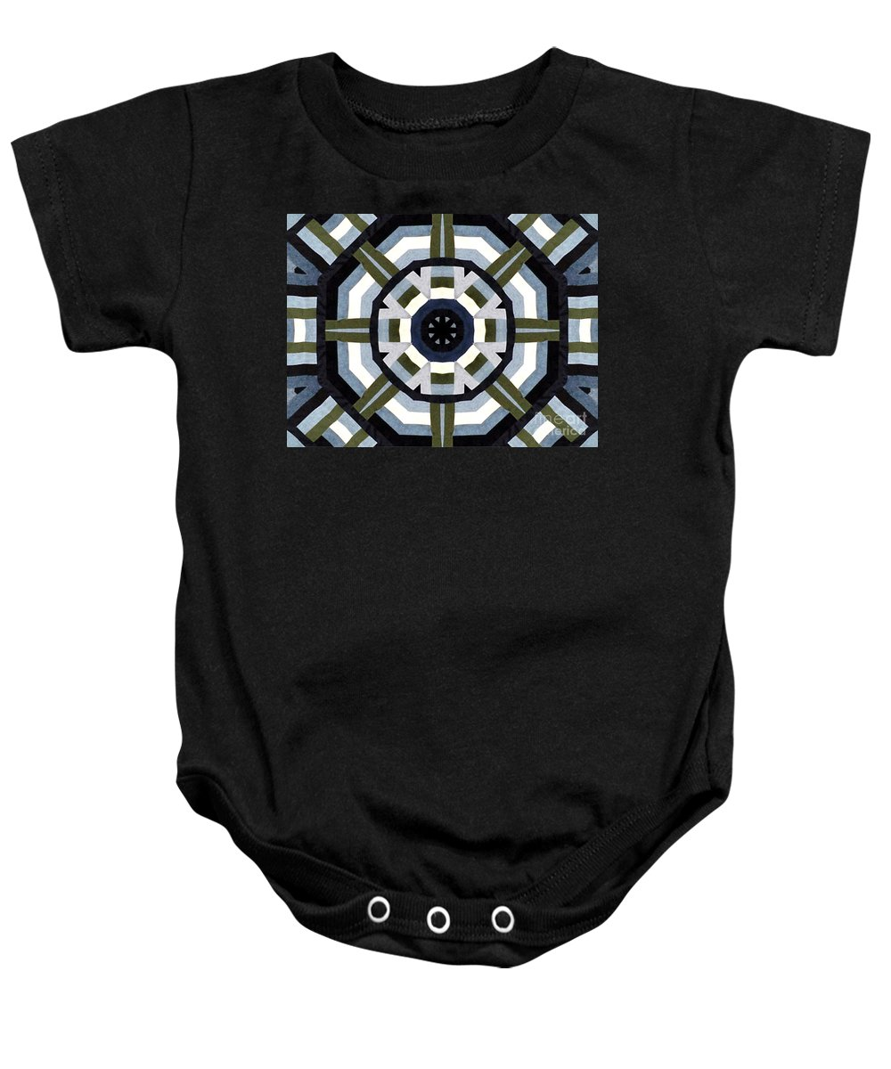 Denims Baby Onesie featuring the photograph Daddy's Denims Quilt by Barbara Griffin