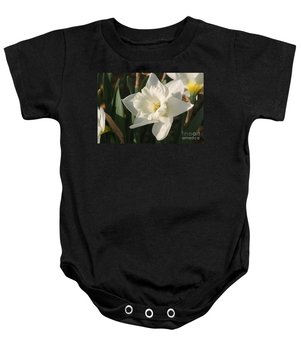 Dafodil Baby Onesie featuring the photograph Dafodil192 by Gary Gingrich Galleries