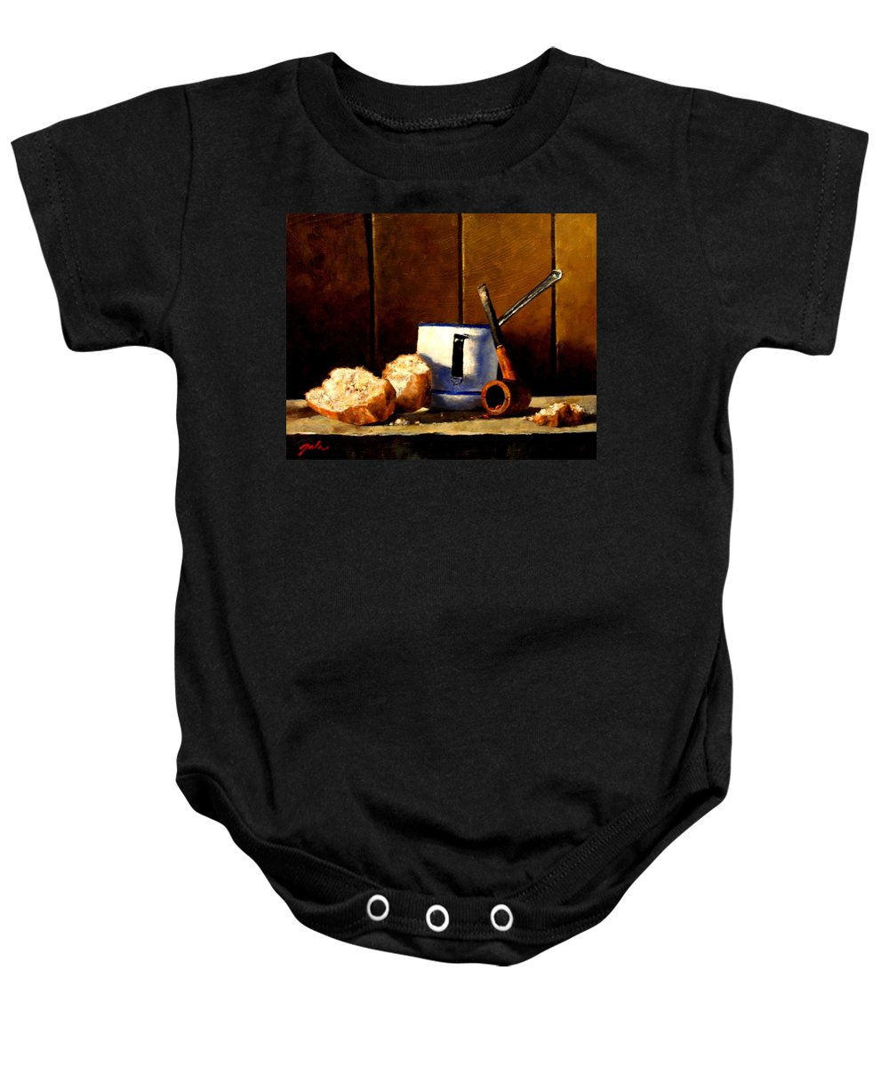 Still Life Baby Onesie featuring the painting Daily Bread Ver 1 by Jim Gola