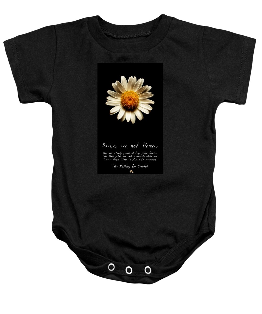 Daisies Are Not Flowers Baby Onesie featuring the photograph Daisies Are Not Flowers Fractal Version by Weston Westmoreland