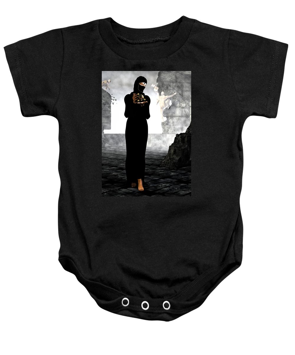 Divine Comedy Baby Onesie featuring the digital art Dantes Dream by Bob Orsillo