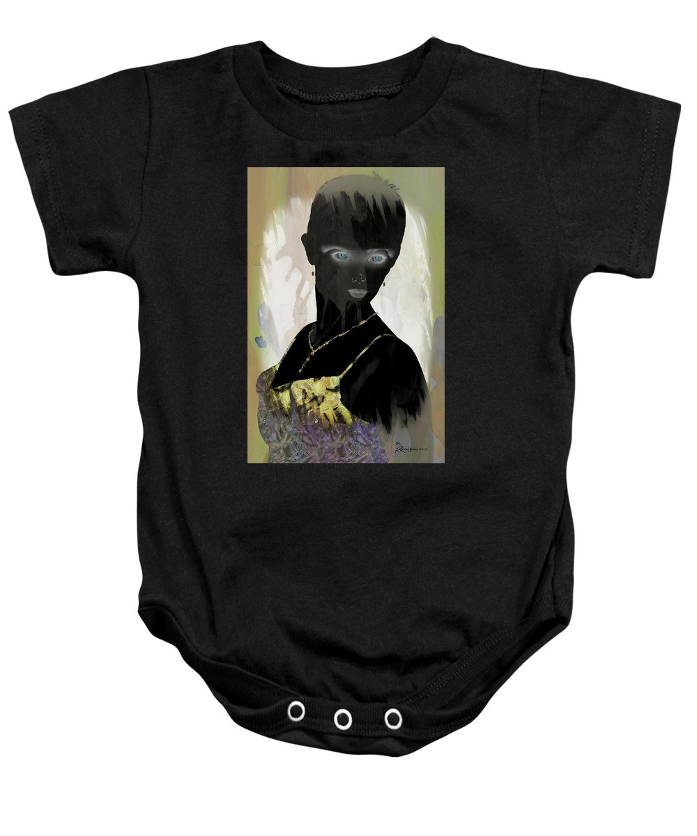 Lady Baby Onesie featuring the digital art Dark Vision - Featured On Comfortable Art And A Place For All Groups by Ericamaxine Price