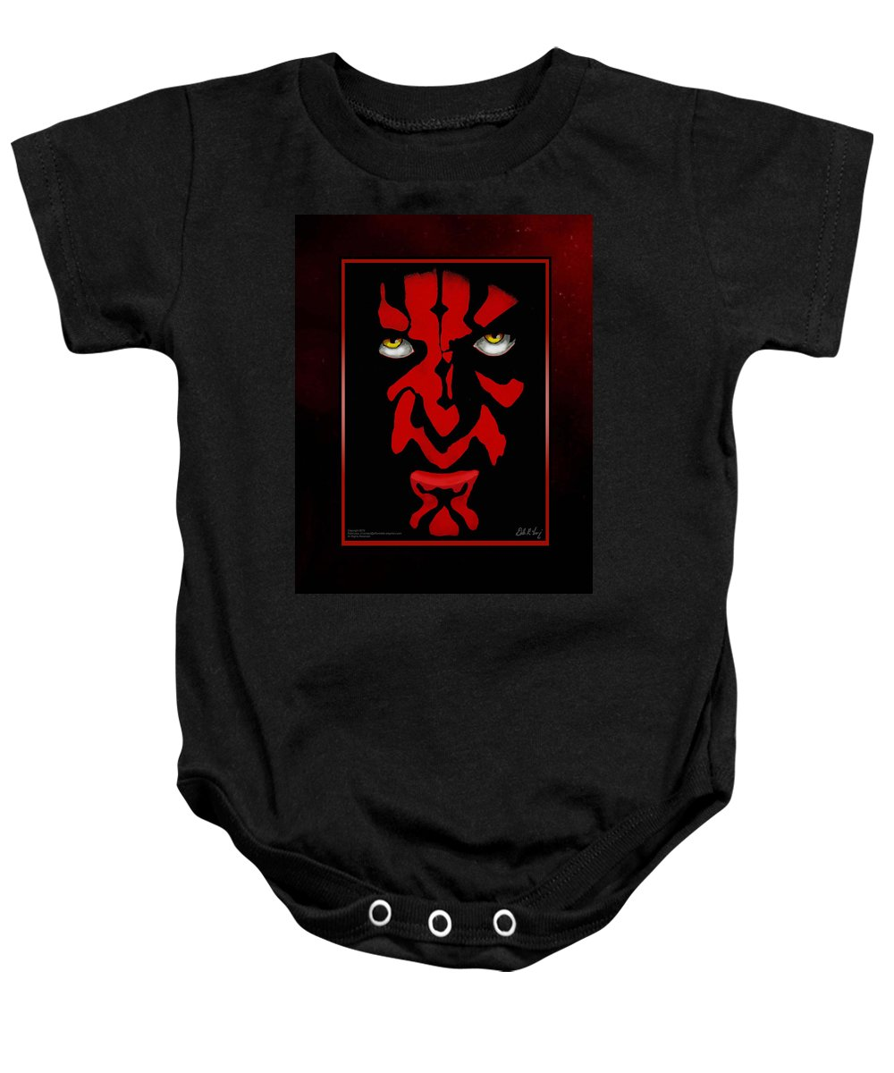 Star Wars Baby Onesie featuring the painting Darth Maul by Dale Loos Jr