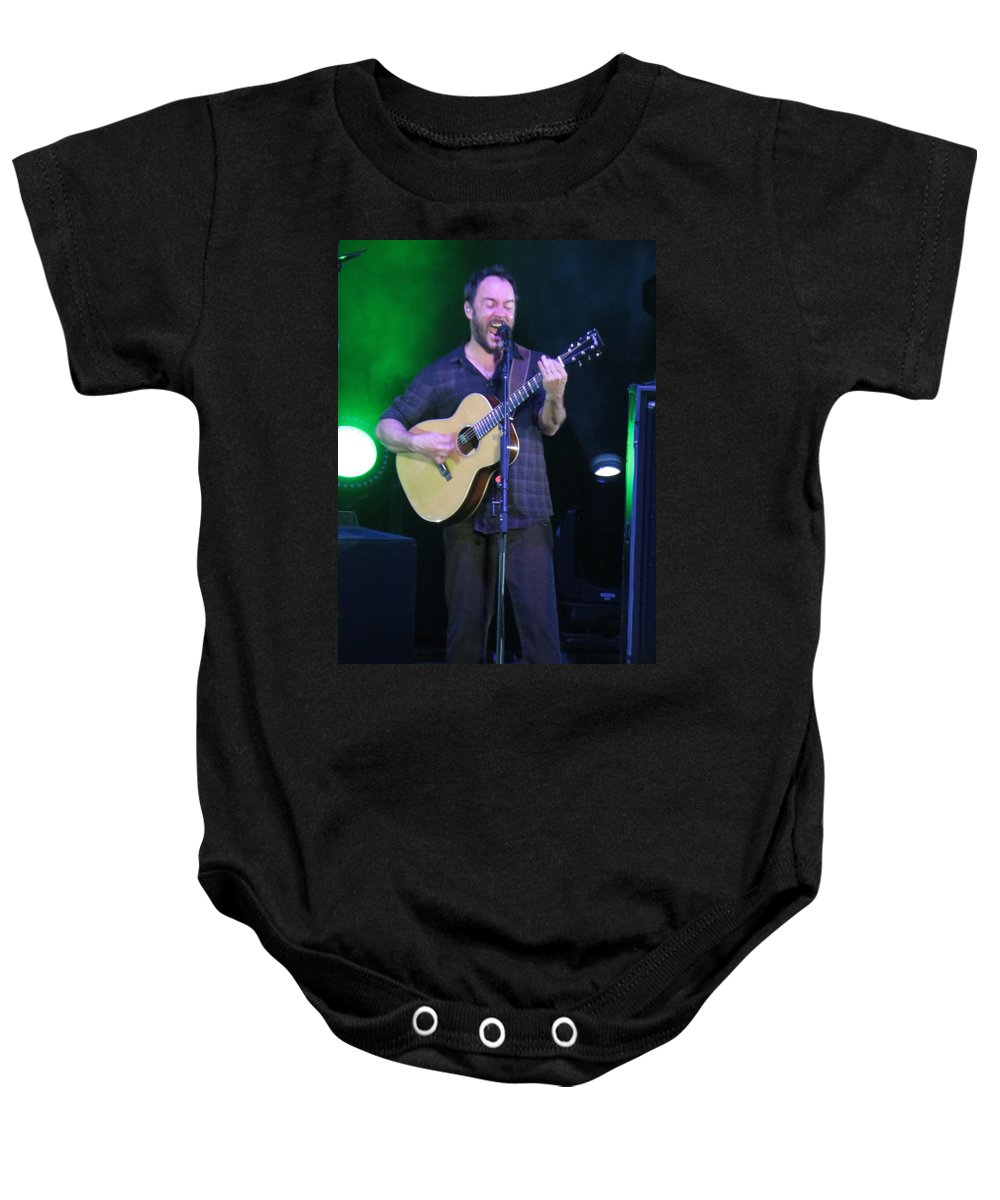 Dave Matthews Baby Onesie featuring the photograph Dave Rocks Tampa by Aaron Martens