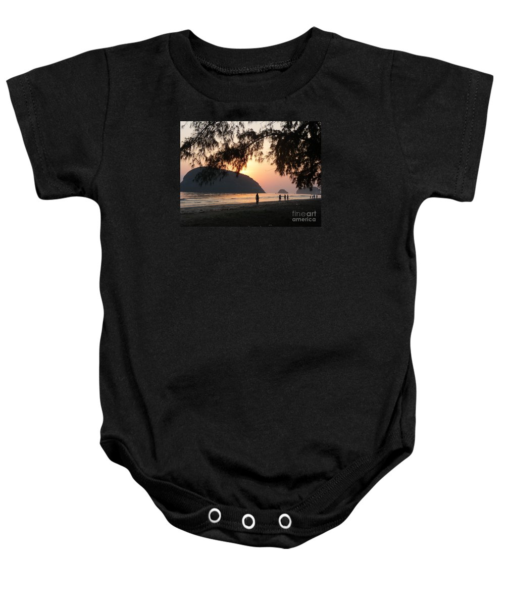 Seascapes Baby Onesie featuring the photograph Dawn By The Sea 06 by Pusita Gibbs