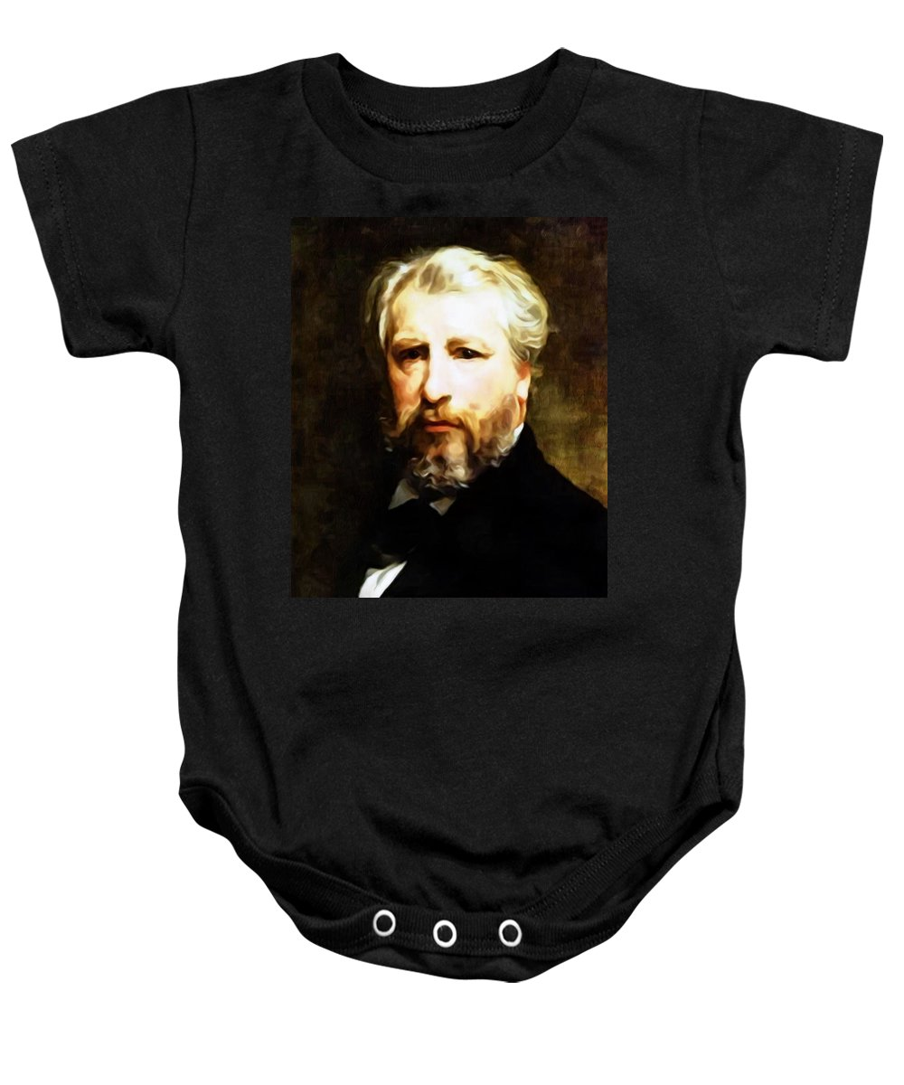 Bouguereau Baby Onesie featuring the painting Dedication To William Adolphe Bouguereau by Georgiana Romanovna