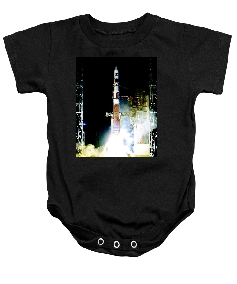 Astronomy Baby Onesie featuring the photograph Delta Iv Rocket by Science Source