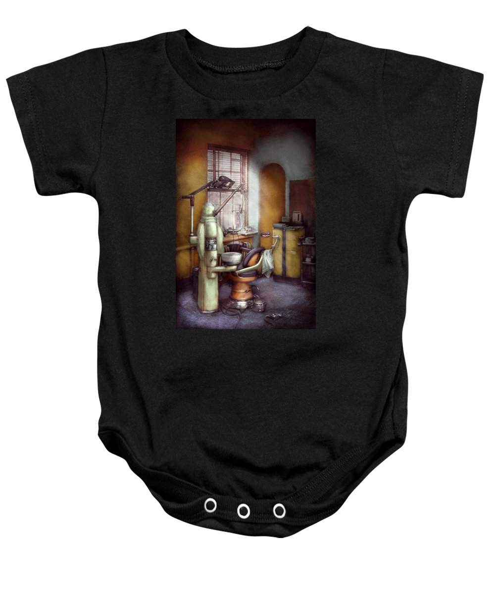 Doctor Baby Onesie featuring the photograph Dentist - Dental Office Circa 1940's by Mike Savad