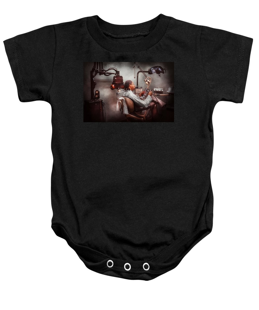 Doctor Baby Onesie featuring the photograph Dentist - Waiting For The Dentist by Mike Savad