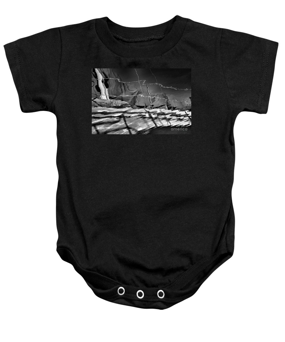 Abstract Baby Onesie featuring the photograph Depth In Black by Lauren Leigh Hunter Fine Art Photography