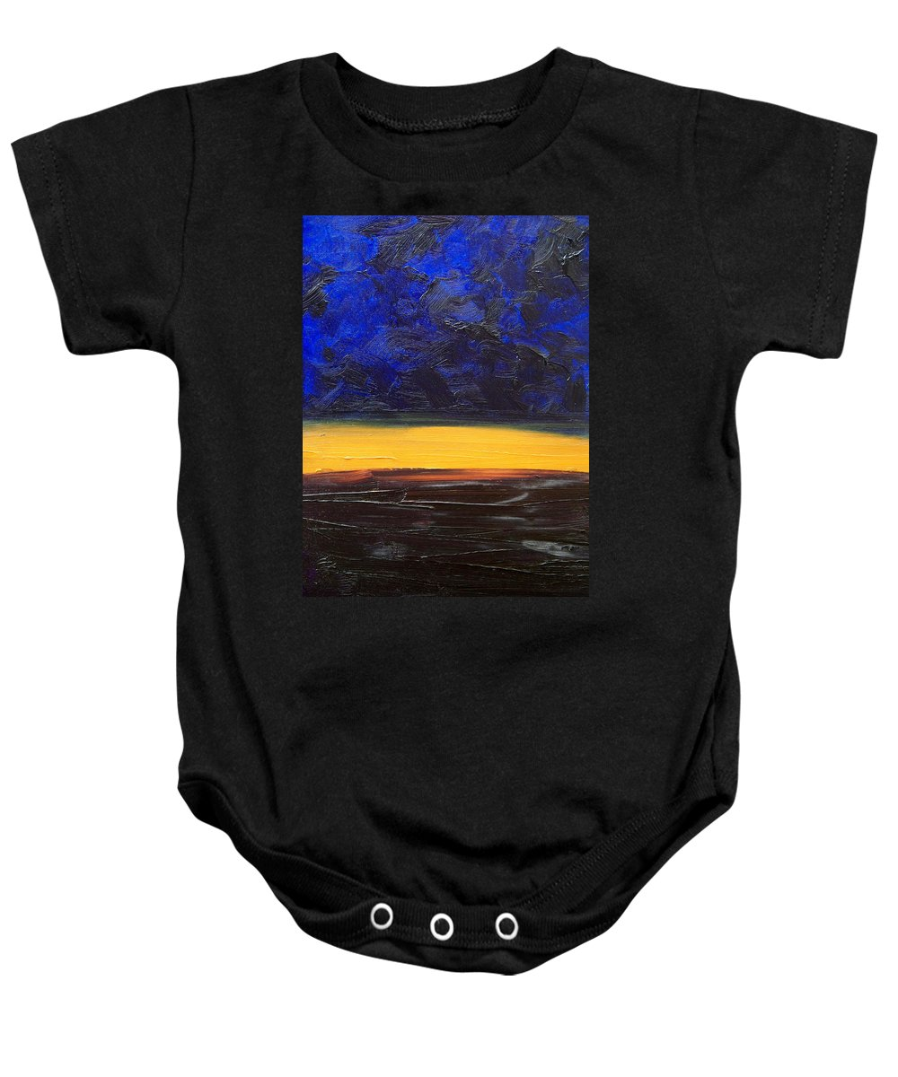 Landscape Baby Onesie featuring the painting Desert Plains by Sergey Bezhinets
