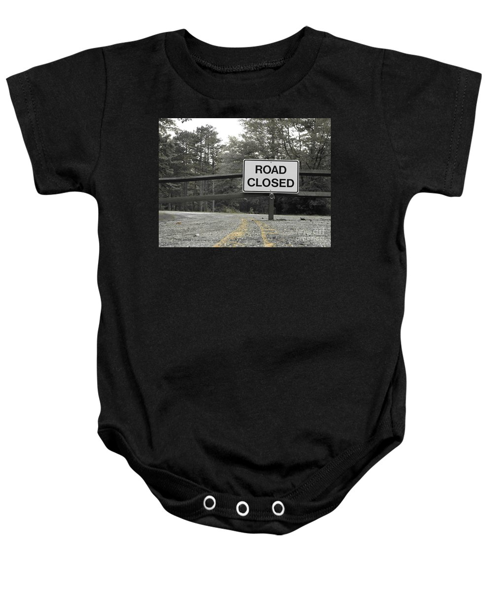Road Closed Baby Onesie featuring the photograph Detour by Michael Krek