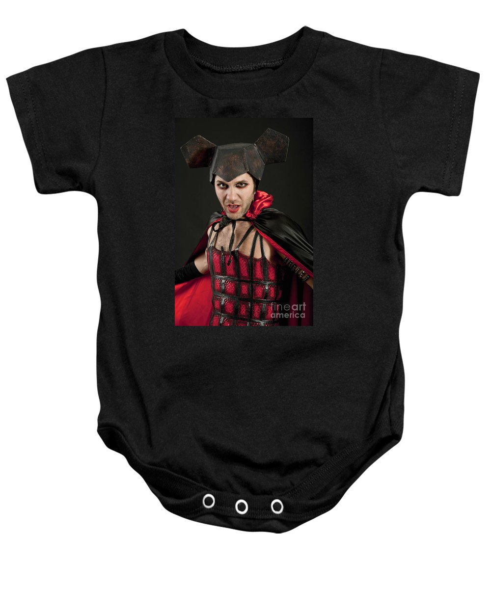 Dreams Baby Onesie featuring the photograph Devil 2 by Ilan Amihai
