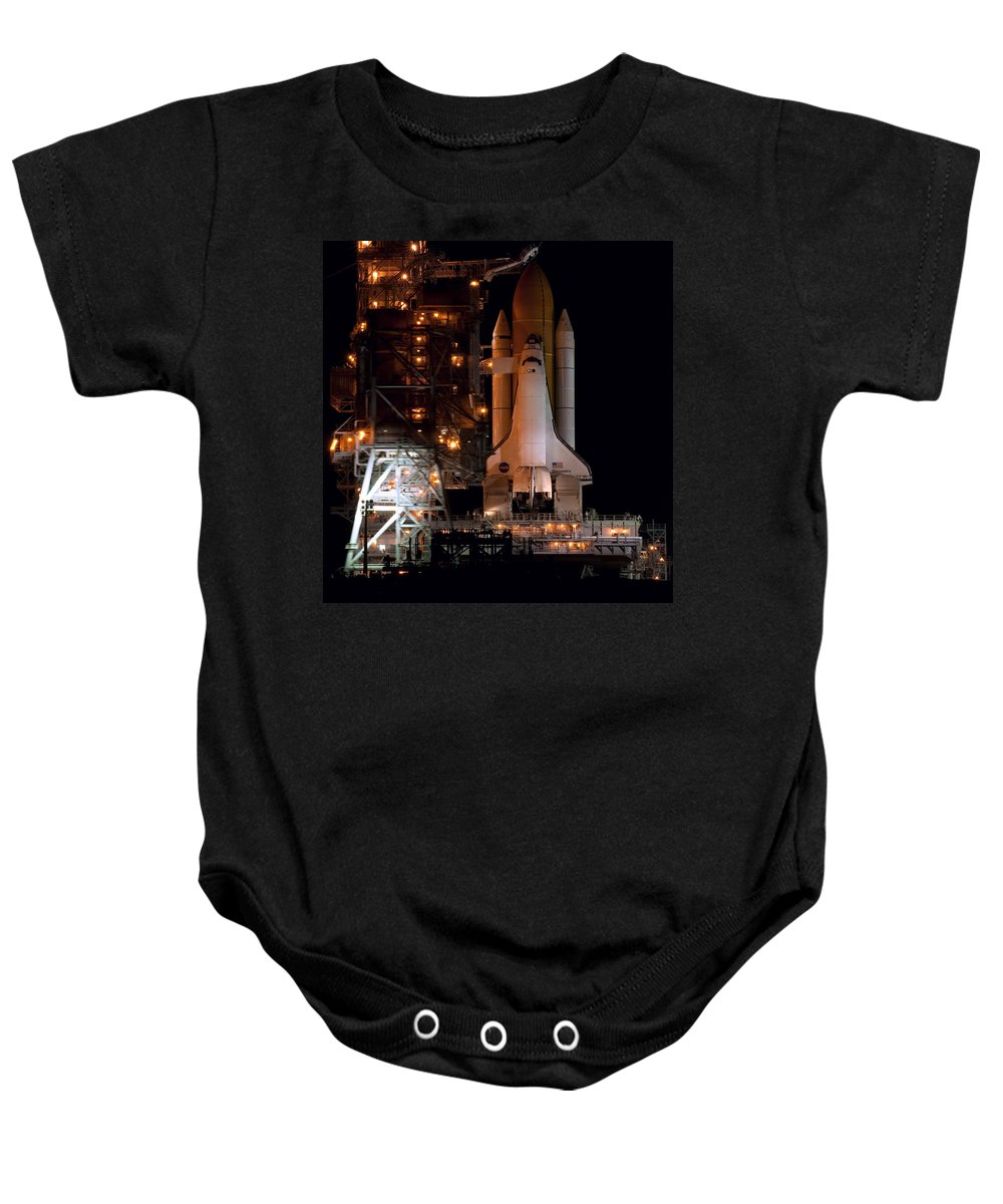 Astronomy Baby Onesie featuring the photograph Discovery Space Shuttle by Science Source
