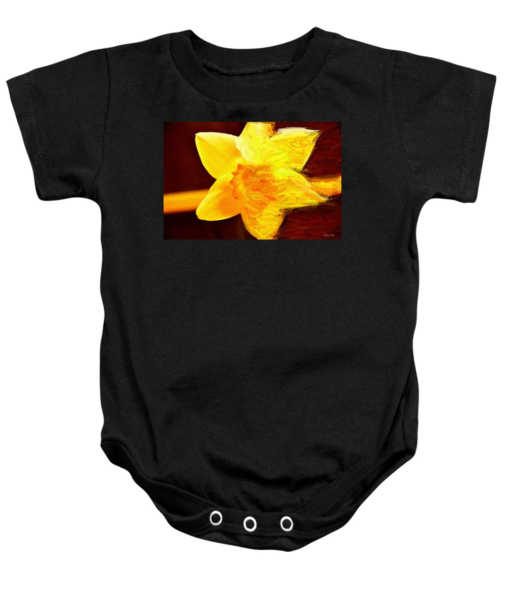 Bloom Baby Onesie featuring the painting Disintegration by Jeffrey Kolker