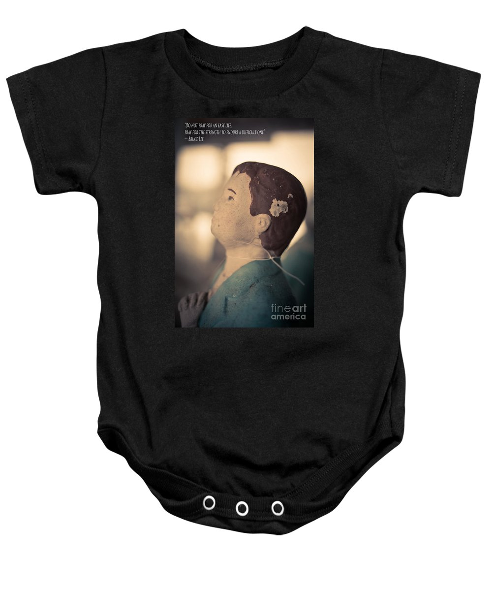 Do Not Pray For An Easy Life Bruce Lee Quote Onesie For Sale By