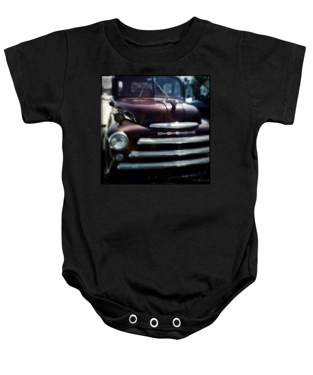 Classic Baby Onesie featuring the photograph Dodge Pickup by Tim Nyberg