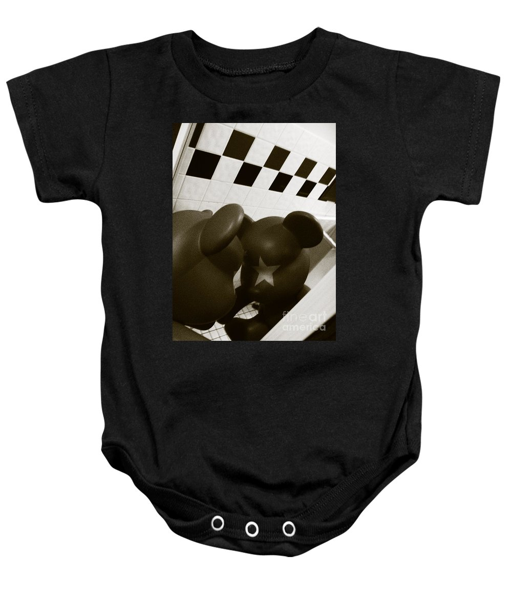 Abstract Baby Onesie featuring the photograph Doll No. 9 by Fei A