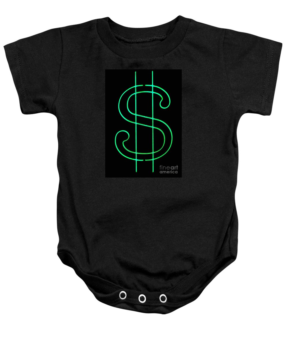 Baby Onesie featuring the photograph Dollar Sign by Kelly Awad